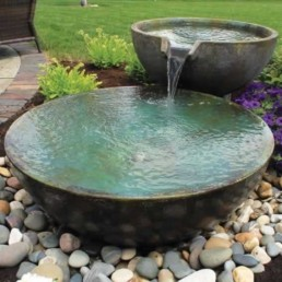 small fountain pond
