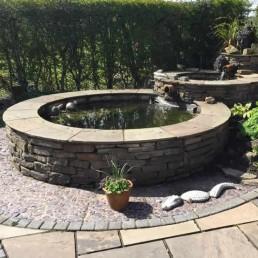 Triple stone circular ponds